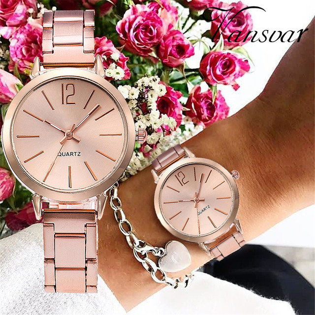 Dropshipping Women Silver & Gold Mesh Dial Wristwatches Fashion Casual Women's S