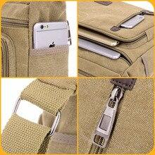 Men Bags Vinatge Canvas Messenger Bags Designer Brand Men's Fashion Crossbody Shoulder Bag Solid Male Casual Travel Bag