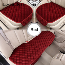 Car Seat Cover Winter Warm Cushion Front Rear Pads Protector Mat 3pcs  Auto accessories Universal Size