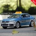 1:32 el envío libre Volkswagen lavida taxi Aleación Diecast Modelo de Coche Tire Hacia Atrás Coche de Juguete modelo de Coche Electrónica con luz y sonido KidToy