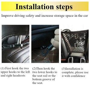 Image 5 - Новый Черный Автомобильный органайзер для заднего сиденья, эластичная Сетчатая Сумка для автомобиля между сумкой, карман держатель для багажа для автомобиля, 30*25 см