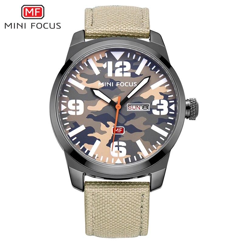 a3640978023 MINIFOCUS PU Strap Relógios Homens Moda Camouflage Dial Quartz Negócios  Relógio de Pulso Dos Homens Do Esporte de Luxo Relógio Masculino relogio  masculino