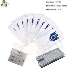 SF 50 filtresi HEPA toz torbaları Miele 3D GN S5000 S8000 komple C2 C3 S5 S8 Miele elektrikli süpürge torbaları yedek filtreler parçaları çanta