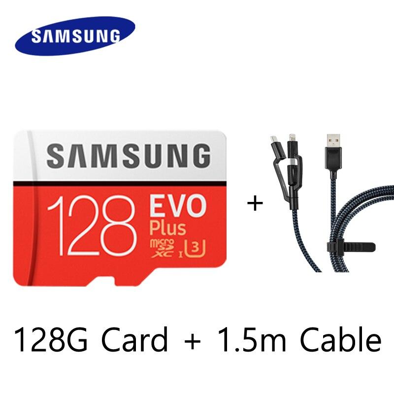 SAMSUNG Hafıza kartı Mikro SD Kart 64 GB 128 GB 32 GB SDHC SDXC Sınıf EVO + Sınıf 10 C10 UHS TF Kartları Trans Flash Mikro sd 128 gb 32