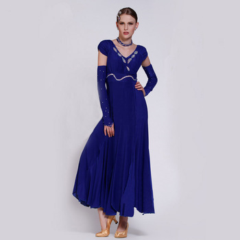 a57e964b32e Personalizado señora Waltz Tango baile vestido moderno baile competición  disfraz Foxtrot Quickstep traje promoción B-2773