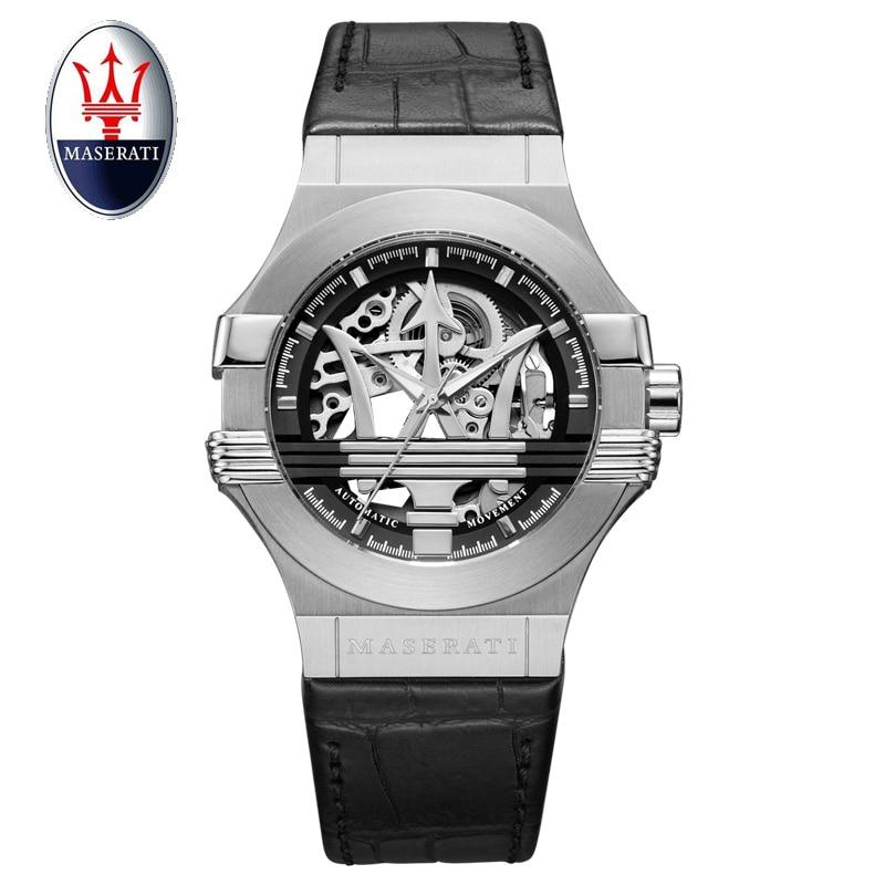 Top Brand Maserati Men Automatic Watch Luxury Mechanical Wristwatch Steel Strap Water Resistant Men Watches Relojes Masculino