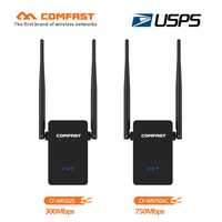 COMFAST 300Mbps 750Mbps Wi Fi Roteador 110V 240V Powerful 10dbi Antenna Wireless WIFI Repeater Range Extender