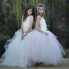 2-13Y Formal Twinset Girl Princess Dress Ball Gown Sleeveless Flower Girl Dresses Bridesmaid Performing Wedding Party Tutu Dress