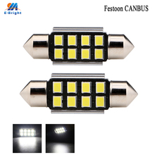 50pcs Led Car Light 2835 SMD Pure White LED 36mm Canbus Error Free Festoon Number Plate Bulbs