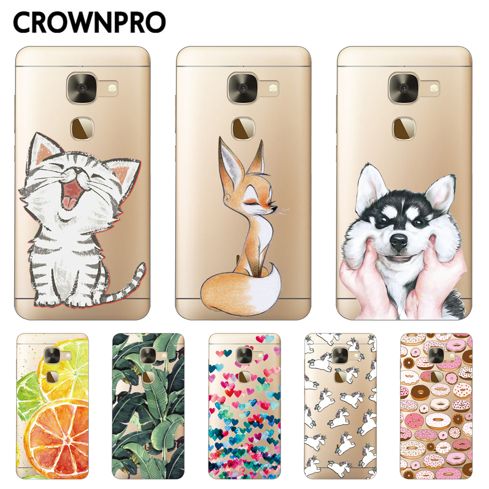 CROWNPRO Letv LeEco Le S3 X626 Case Silicone Soft TPU Cover Leeco Le 2 X620 X20 X25 Phone Back Cases Le2 Pro Painted Clear Funda