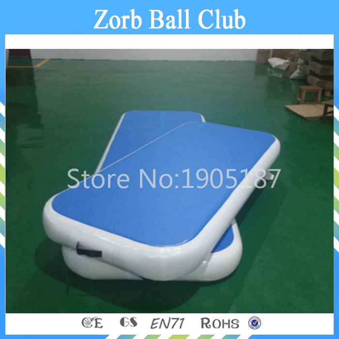 Free Shipping Blue Indoor Used Sports Equipment Short Mini Size Gym Mat/Air Tumbling Mat/Inflatable Air Track for Sale free shipping 8 2 inflatable air mat for gym inflatable air track tumbing for sale