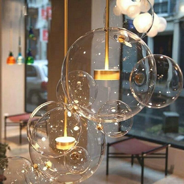 Post modern minimalist Nordic living room restaurant Italy designer soap bubble lamp LED Glass Chandelier