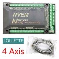 NVEM CNC Controller 200KHZ Ethernet MACH3 Motion Control Card For Stepper Motor 4 Axis