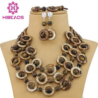 Amazing New Shell Agate Beads Fancy Necklace Set Shell Pearl Beach Necklace Jewelry Set Free Shipping