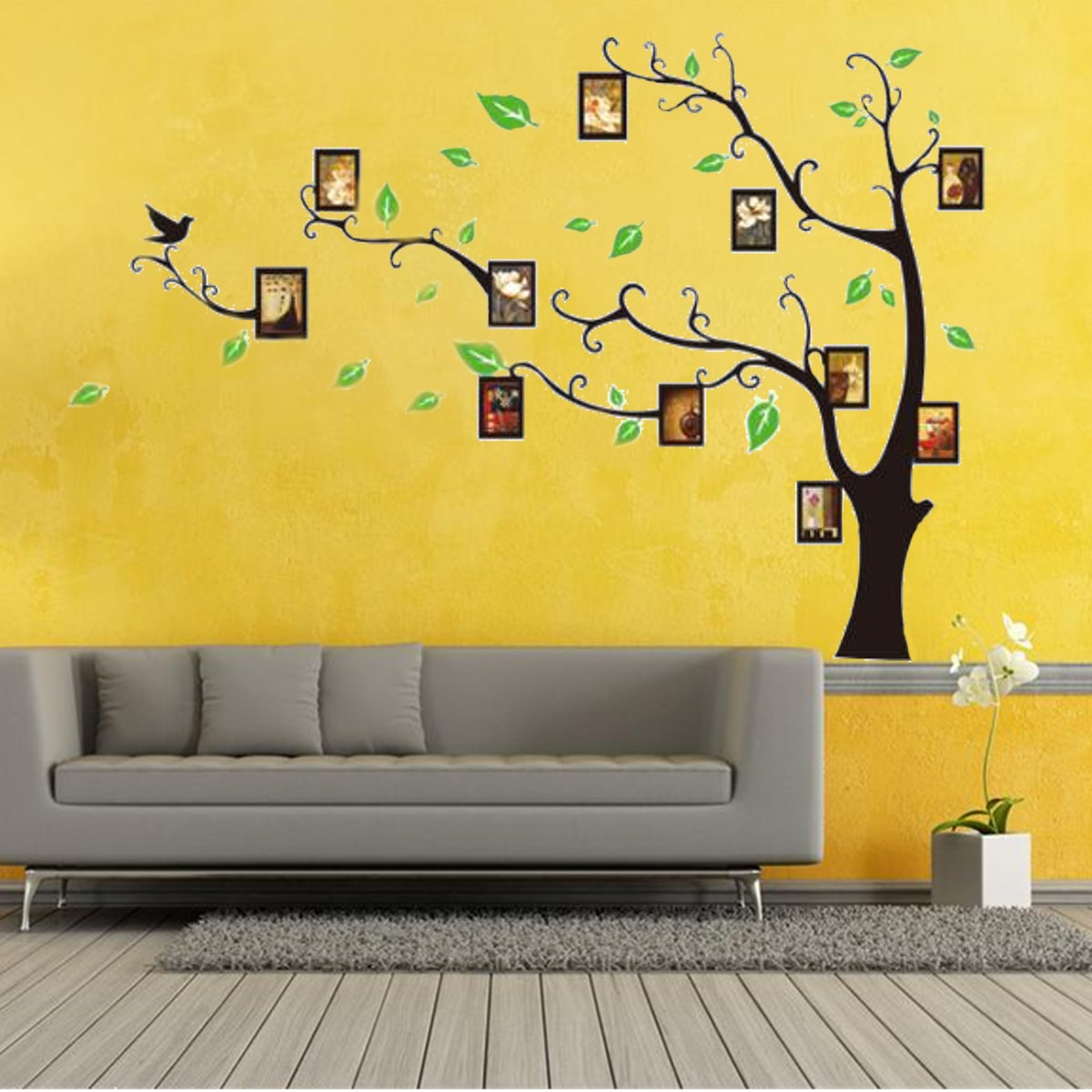 Wall Stickers Frame Family Picture Photo 3D DIY Tree Art Vinyl ...