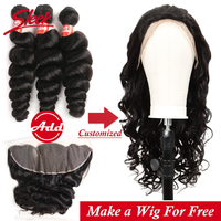 Sleek Remy Loose Wave Lace Front Human Hair Wigs 8 28 Inch Free Customized By Brazilian Human Hair Bundles With Frontal