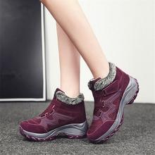 купить JIANBUDAN/2020 winter women snow boots high quality suede leather warm plush ankle boots women outdoor Non-slip Snow shoes 35-41 дешево