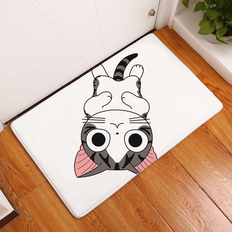Мягкий коврик для ванной, милый домашний коврик с рисунком кота, коврики для ванной комнаты, коврики для кухни, гостиной, впитывающие Противоскользящие коврики - Цвет: 7
