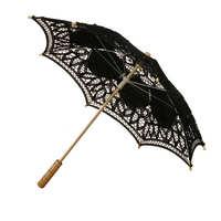 Umbrella Fan Fancy Retro Style Lace Handmade Hand Fan Parasol Umbrella Wedding Bridal Party Decorative Craft