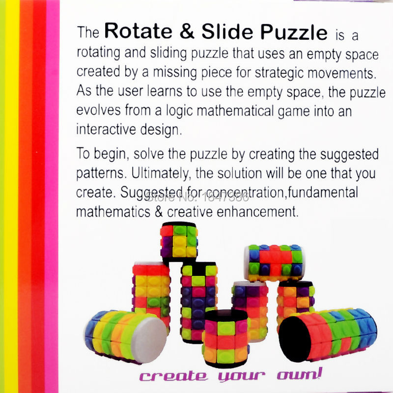Rotate And Slide Spinner Russia Fidget Babylon Tower Puzzle Cube