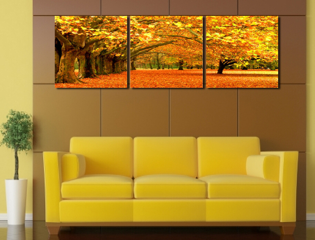 modern landscape painting 3 piece canvas wall art Framed canvas ...