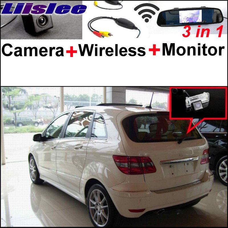 Liislee 3in1 Special Camera + Wireless Receiver + Mirror Screen DIY Rear View Parking System For Mercedes Benz MB B Class W245