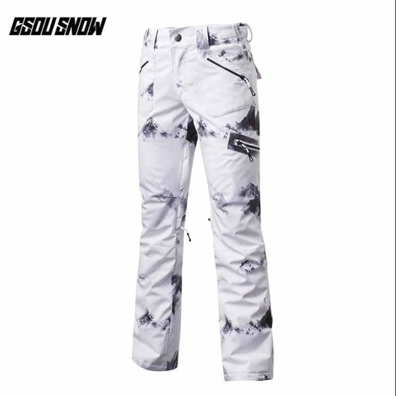 4cf6eb503e GSOU SNOW Brand Women Ski Pants Waterproof Snowboard Pants Winter Outdoor  Skiing Snowboarding Sport Trousers Female