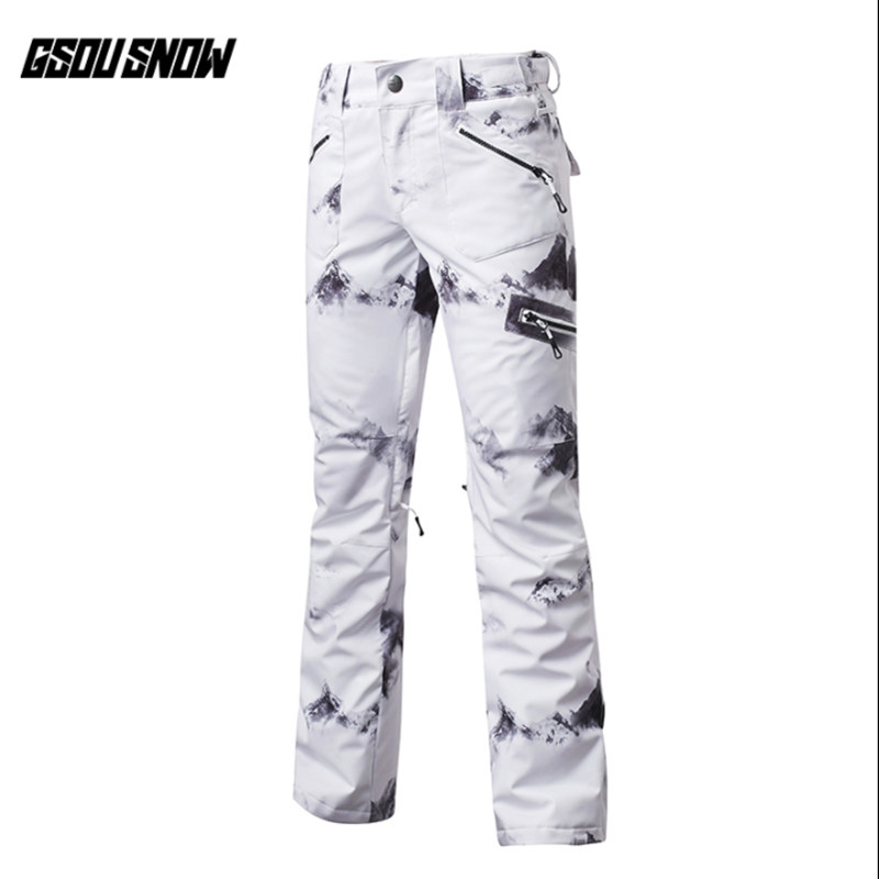 GSOU SNOW Brand Women Ski Pants Waterproof Snowboard Pants Winter Outdoor Skiing Snowboarding Sport Trousers Female Snow Clothes gsou snow brand ski pants women waterproof snowboard pants ski trousers breathable outdoor skiing winter snow clothes hot sale
