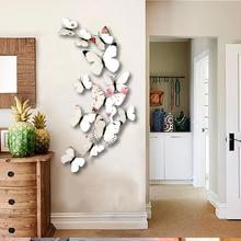 12Pcs Magnetic 3D Butterfly Wall Stickers Art Decals Personalized Cute Butterflies Sticker DIY Home Room Decoration