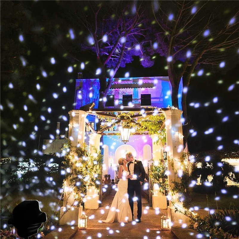 Christmas Snowflake Laser Projector Outdoor Waterproof LED Moving Snow Garden lawn Lamp Decorations for Home