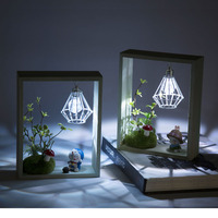 Cute Fairy Cartoons Model LED Lamp Time Door Wooden Decoration Creative Furniture Ornament Night Lamp Christmas Kids Present