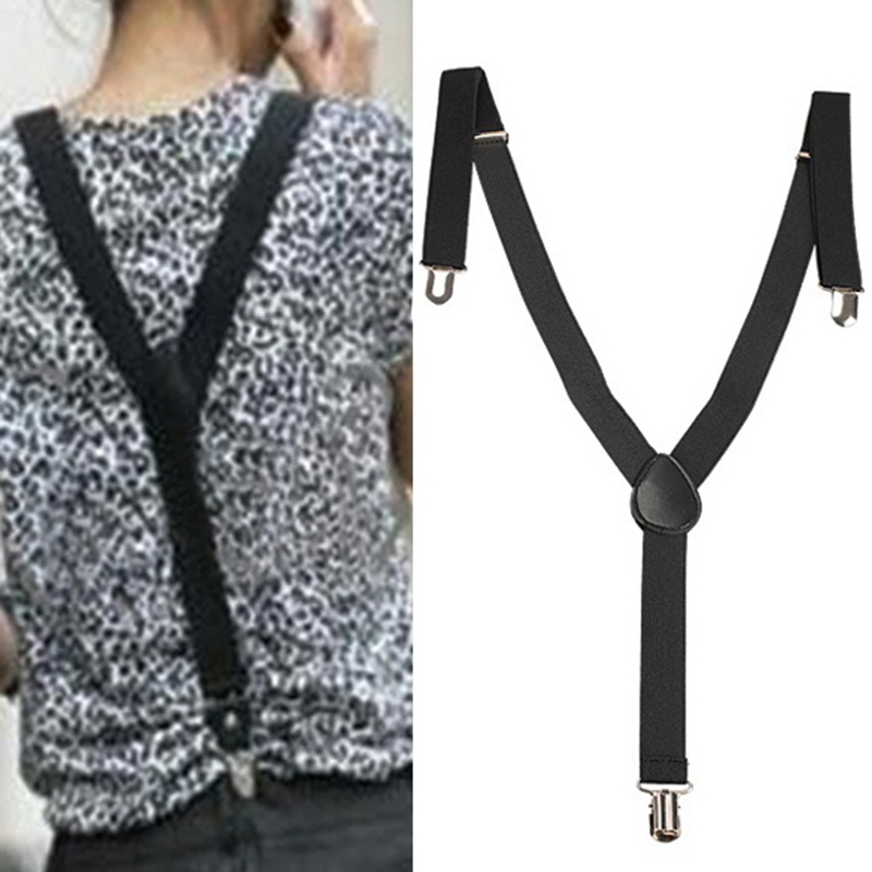 New Fashion Solid Color Elastic Brace Suspender Y Back Neon Clip-on Belt For Overall Adult Child Suspenders LB