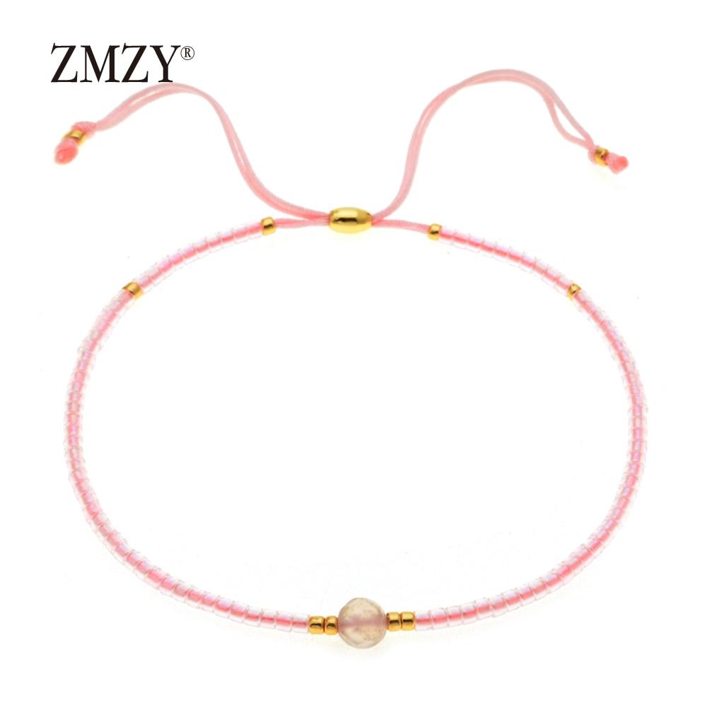 ZMZY Miyuki Delica, бисер, женские браслеты, ювелирные изделия дружбы, модные, сделай сам, Bijoux Femme, простые браслеты, Прямая поставка - Окраска металла: QSSL003-9