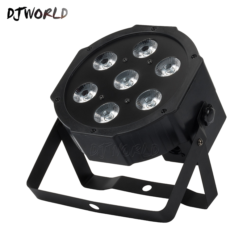 LED Par 7x12W RGBW 4IN1 LED Wash Light Quad Stage Uplighting No Noise Professiona For Atmosphere Of Music Stage Effect Party