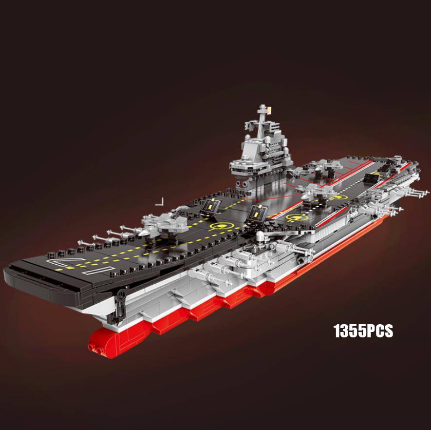 Military China liangning aircraft Varyag carrier moc building block 1:525 scale ww2 model batisbricks bricks toys collection