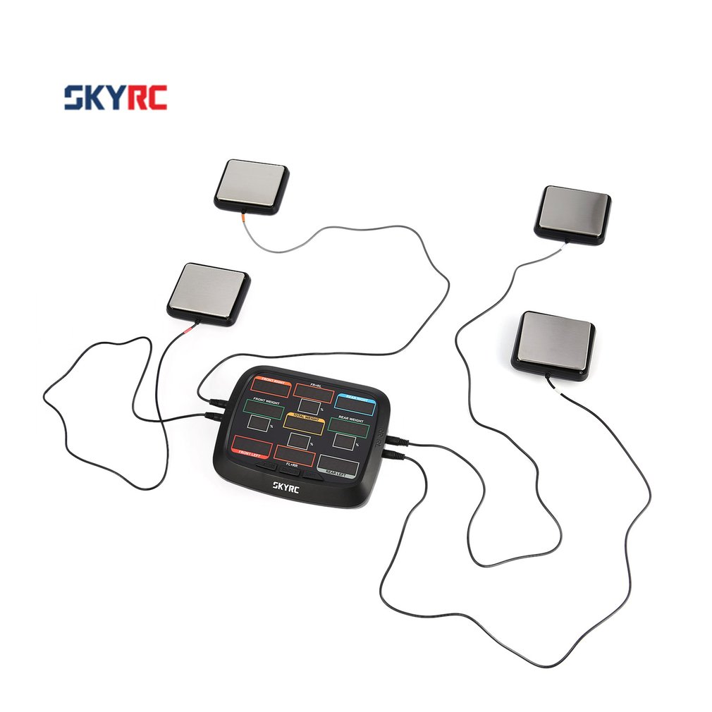 Hot! SkyRC Corner Weight RC Car Balancing Scale System Setup Kit for 1/8 1/10 1/12 RC Car Truck Buggy Off-road SK 500015 RC Accs асино лето