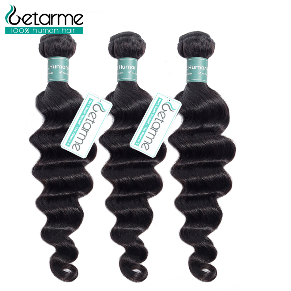 Loose Deep Wave Bundles 3 Indian Hair Bundles30 Inch Bundles Remy Human Hair Extensions Natural Color Cheveux Humain Hair Weave(China)