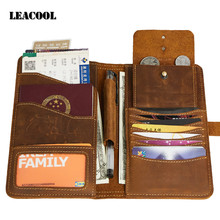 Russian Driver License Bag Wallet Crazy Horse leather Multi Function Tool Wallet Document Card Passport Holder Purse Wallet Case