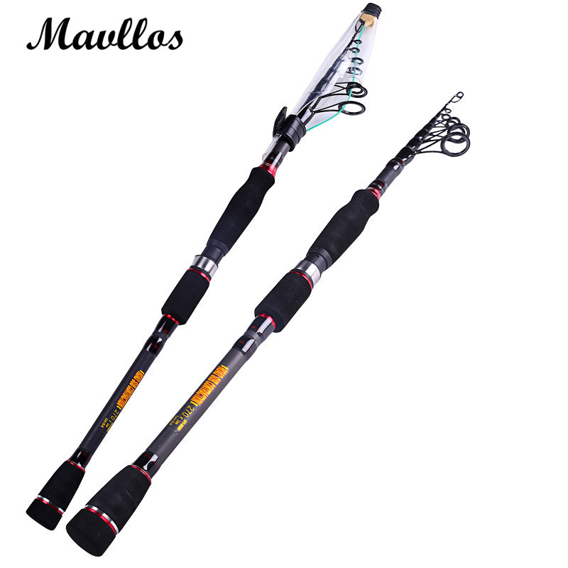mavllos mh cheap carbon fiber telescopic spinning rod 1 8m