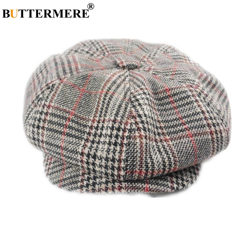 BUTTERMERE David Beckham Hat Newsboy Cap Men Gatsby Women Cotton Octagonal British Style Vintage Male Flat