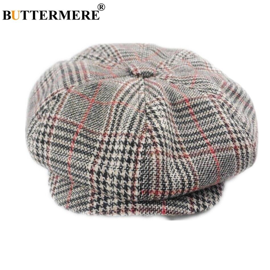 BUTTERMERE David Beckham Hat Newsboy Cap Men Gatsby Hat Women Cotton Octagonal Cap British Style Vintage Male Flat Cap Hat