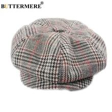 BUTTERMERE David Beckham Hat Newsboy Cap Men Gatsby Women Cotton Octagonal British Style Vintage Male Flat