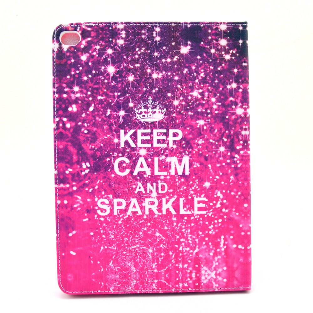 Keep calm and sparkle pink pu leather case cover for apple ipad keep calm and sparkle pink pu leather case cover for apple ipad mini 4 tablet protect shell in tablets e books case from computer office on reheart Gallery