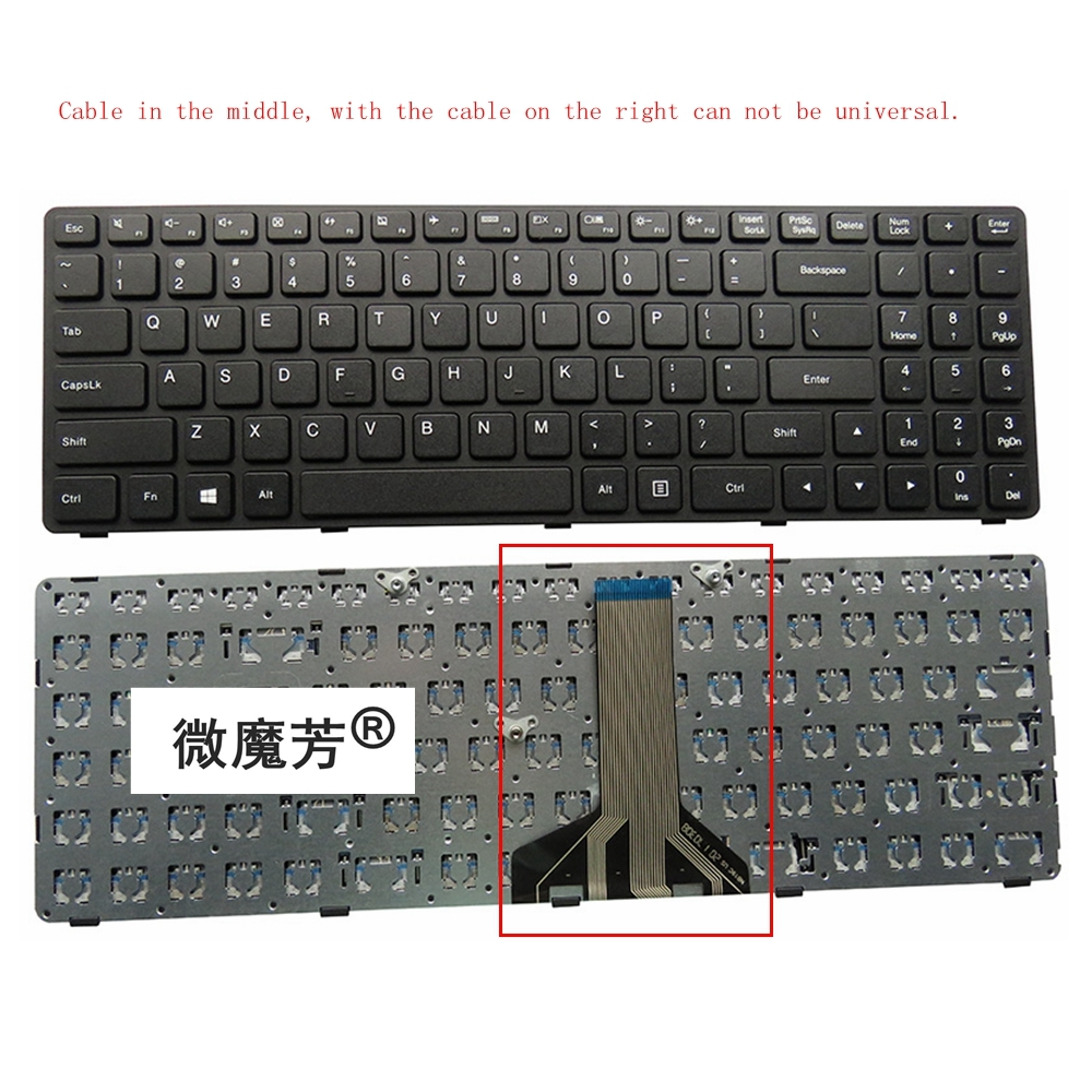 US Black New For Lenovo För Ideapad 100-15 100-15IBY 100-15IBD 300-15 B50-10 B50-50 Laptop Keyboard Engelska