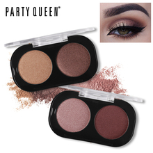 Party Queen Shimmer Matte 2 Colors Eyeshadow Palette Cosmetic Naked Pigment Makeup Intense Glitter Earth Color Smokey Eye Shadow