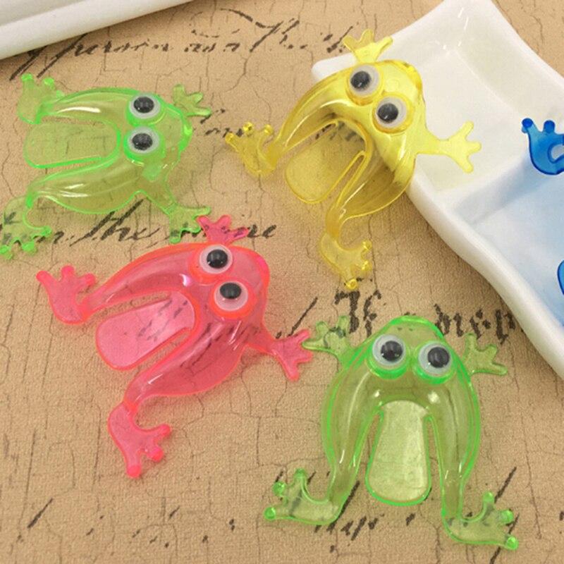 2 zoll Springen Frosch Trichtern Spiel Kinder Party Favor Birthday Party Spielzeug für Mädchen Junge Goody Bag Pinata Füllstoffe 10PCS