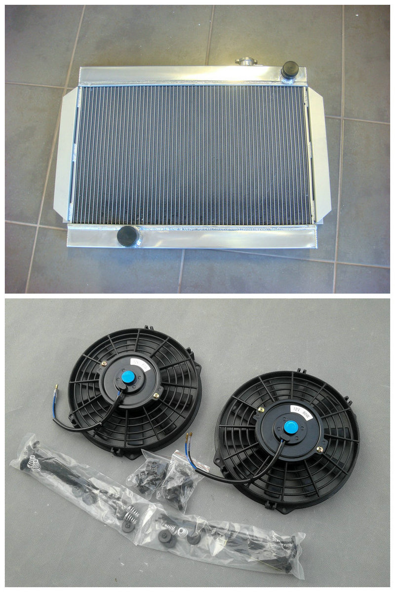3 CORE NEW Aluminum Radiator 2 Fan For Holden Torona V8 universal High Performance