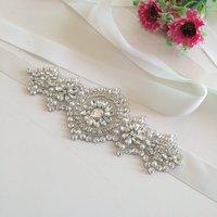 2015 gros mode cristal Beade strass Sash Applique Designs robes de mariée strass Appliques pour la décoration de mariage