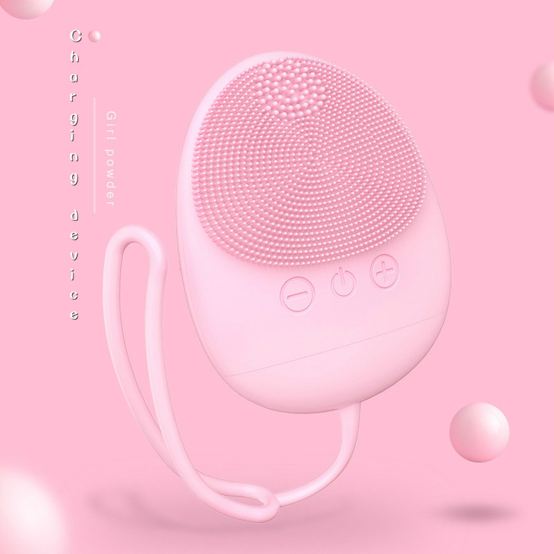 Facial Cleansing Brush  Vibration Mini Face Cleaner Silicone Deep Pore Cleaning Electric Waterproof Massage Beauty Care