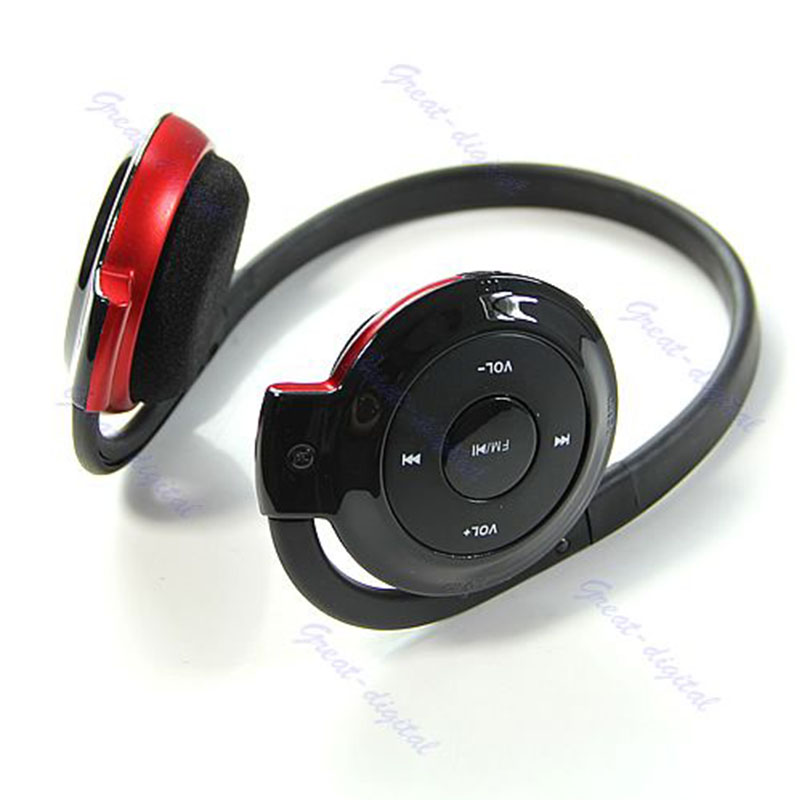Trendy Card headset Ear loop Headphone Earphone FM Sport MP3 player With TF Slot